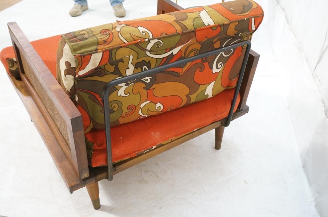 Modernist Wood Framed Lounge Chair Woven Panel Ar - 7