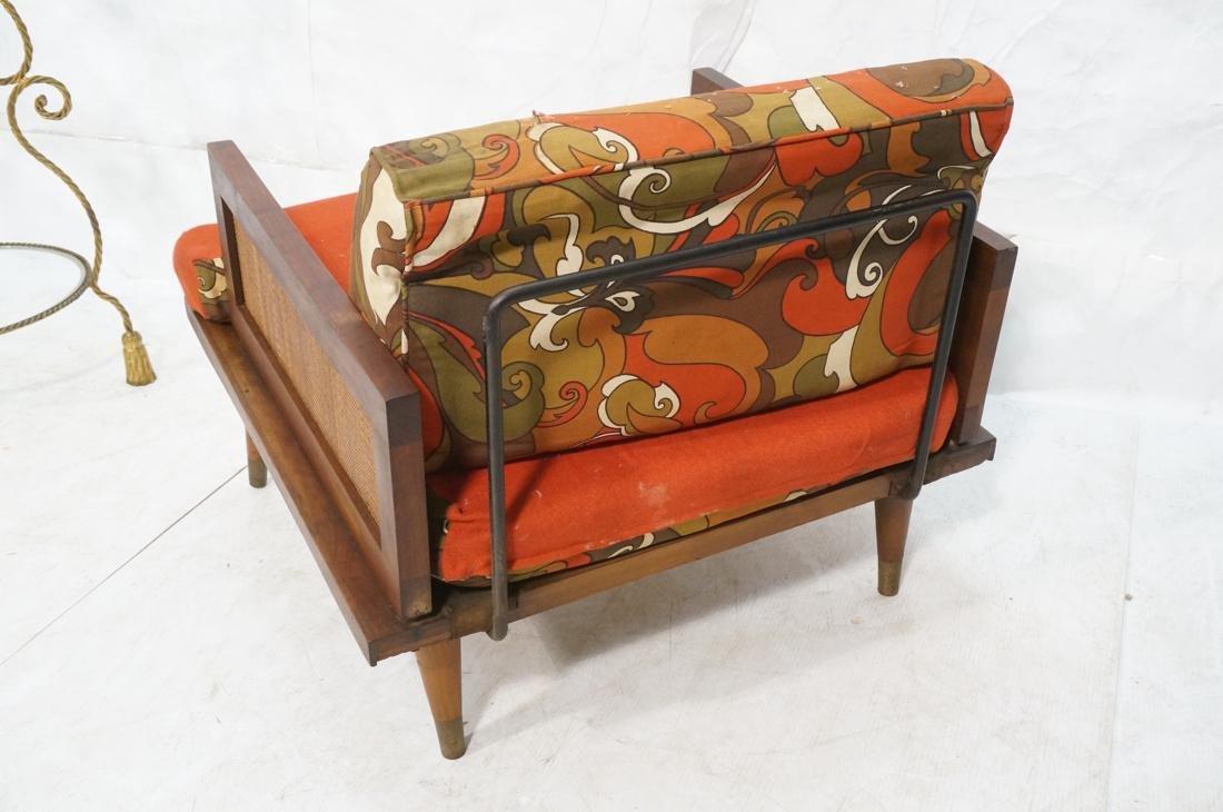 Modernist Wood Framed Lounge Chair Woven Panel Ar - 8
