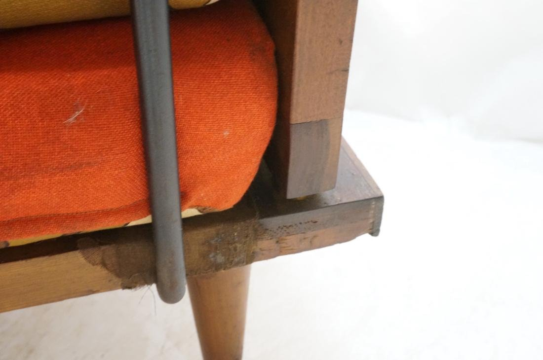 Modernist Wood Framed Lounge Chair Woven Panel Ar - 9