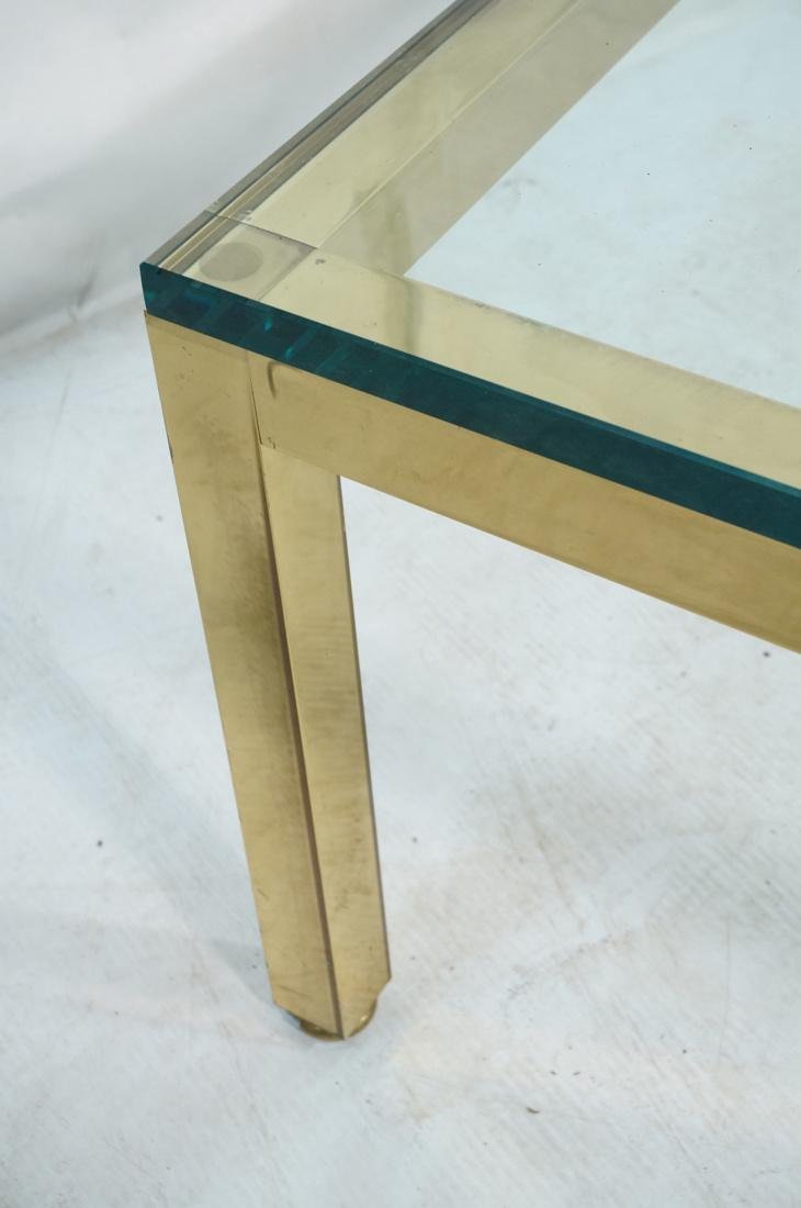 Modernist Brass Tone Square Frame Coffee Table. 3 - 3