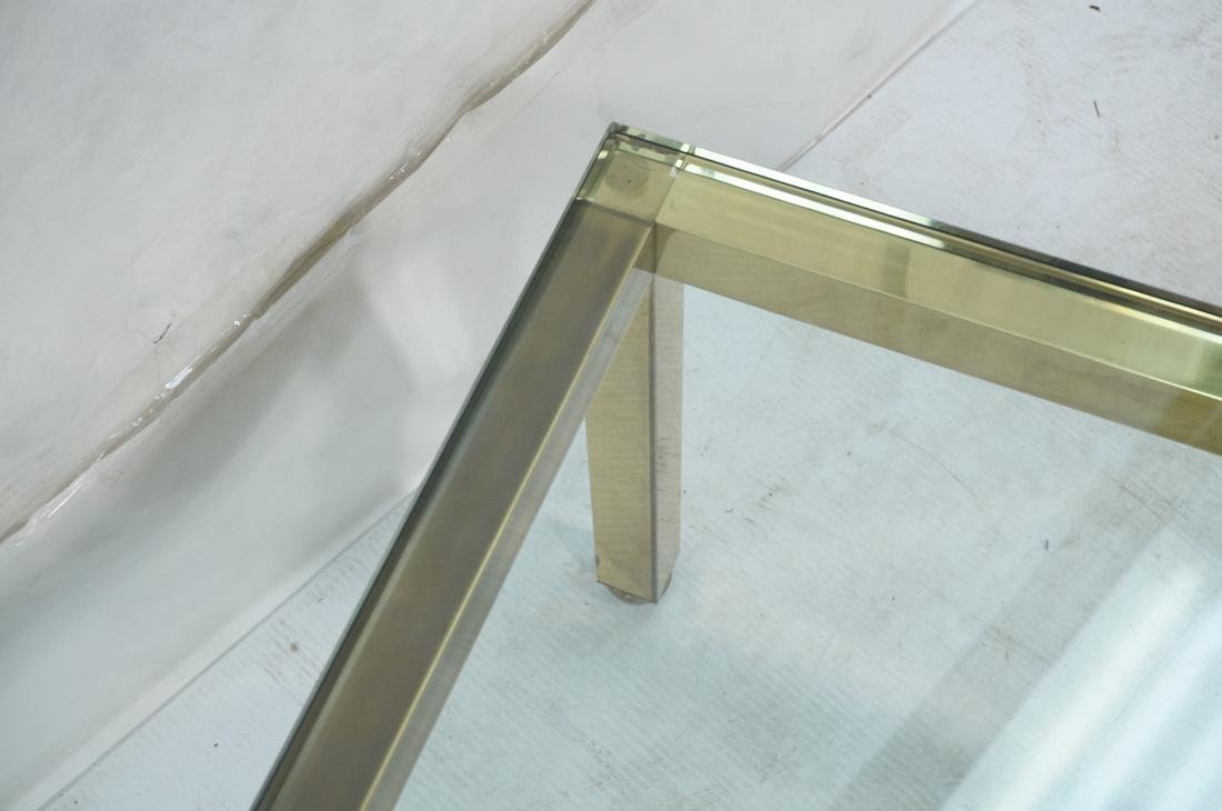 Modernist Brass Tone Square Frame Coffee Table. 3 - 6