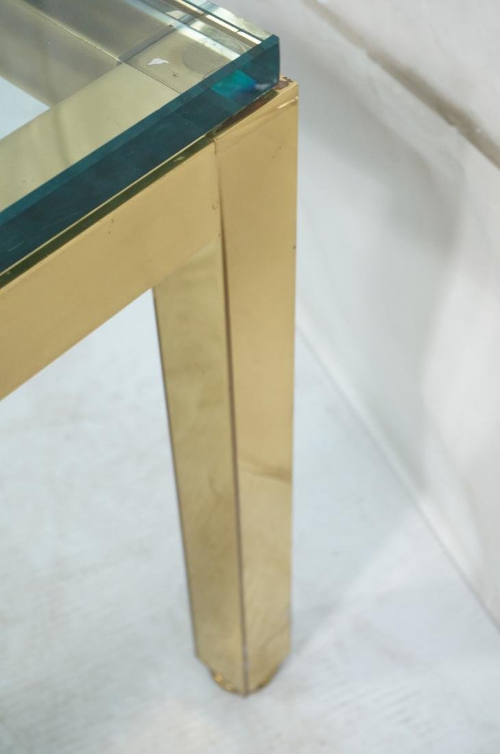 Modernist Brass Tone Square Frame Coffee Table. 3 - 7