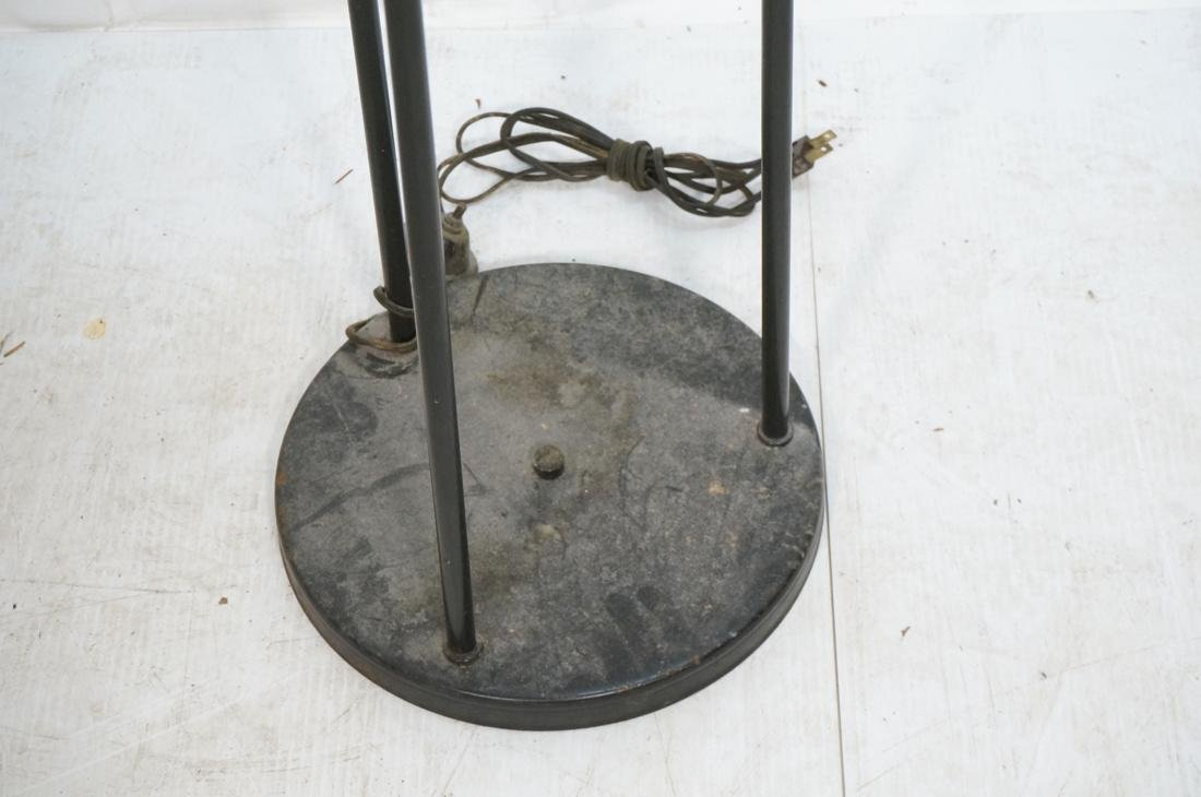 Modernist Black Metal 3 Shade Floor Lamp. 3 black - 3