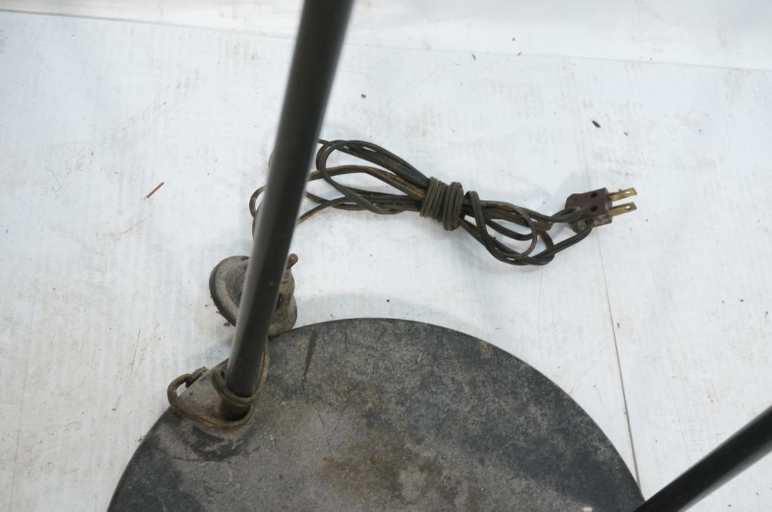 Modernist Black Metal 3 Shade Floor Lamp. 3 black - 7