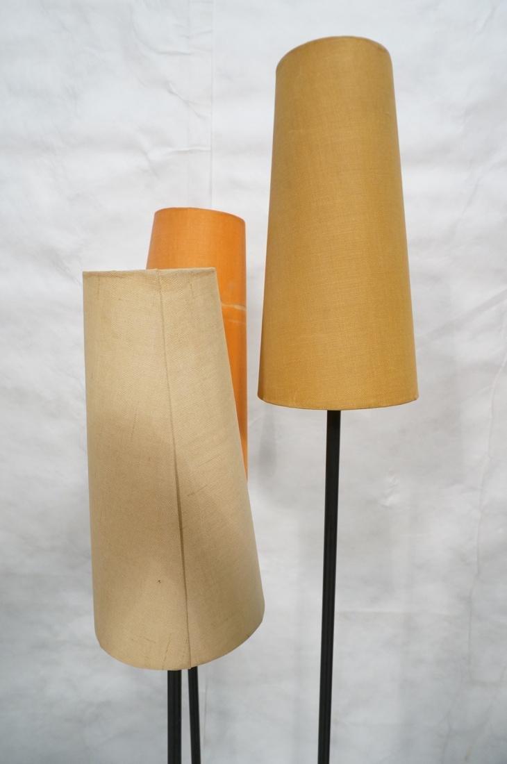 Modernist Black Metal 3 Shade Floor Lamp. 3 black - 9