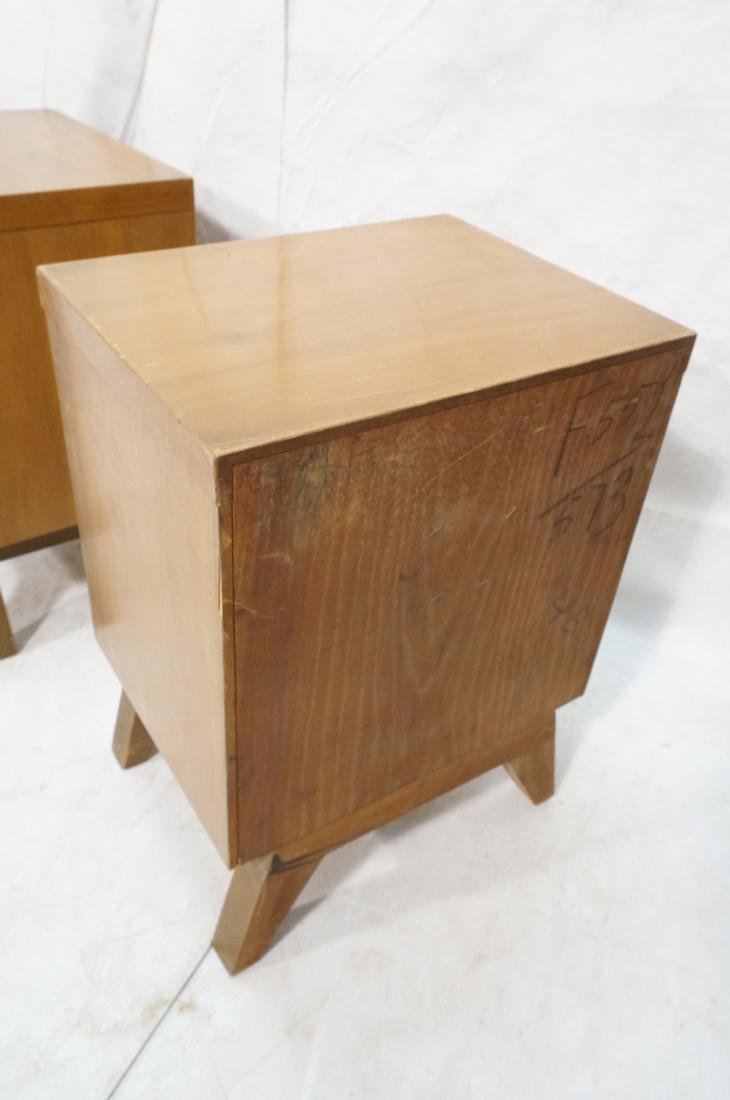 Pr 2 Drawer Night Stands. 2 tone wood cabinets wi - 10