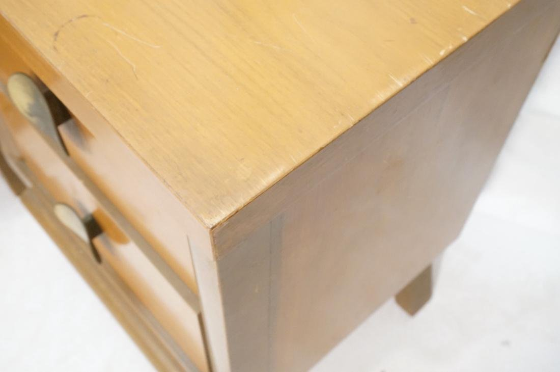 Pr 2 Drawer Night Stands. 2 tone wood cabinets wi - 4