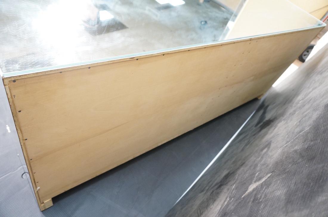 Mirrored 4 Door Modernist Credenza Sideboard. Sid - 10