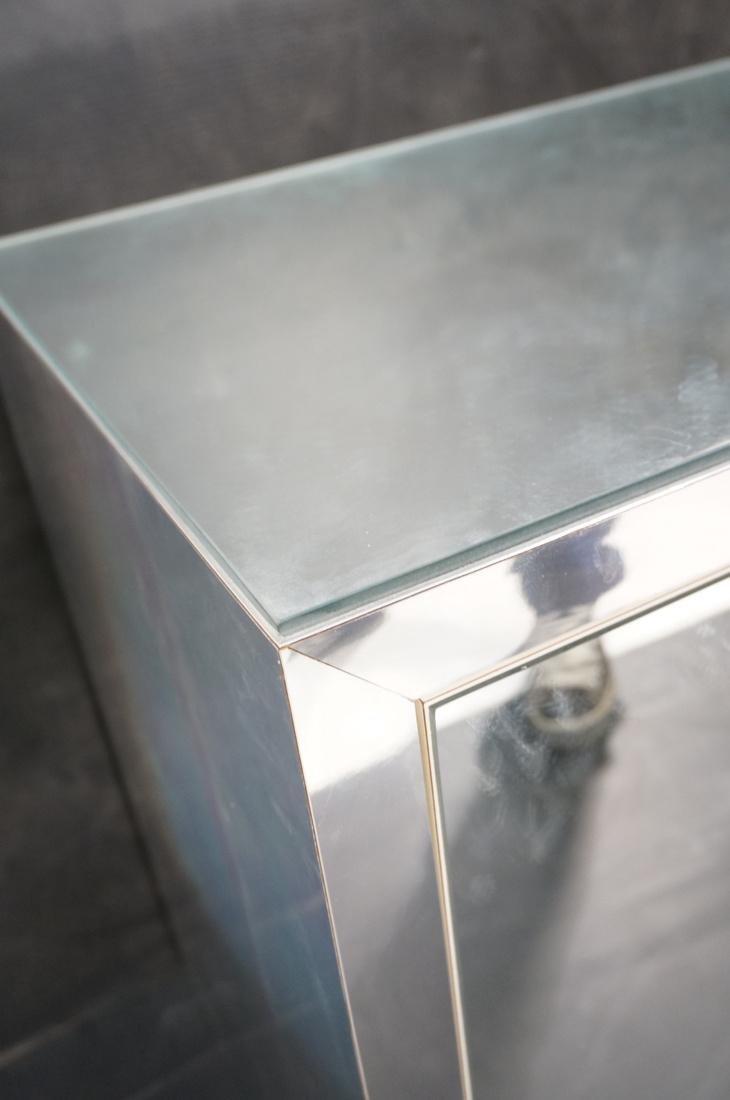 Mirrored 4 Door Modernist Credenza Sideboard. Sid - 3