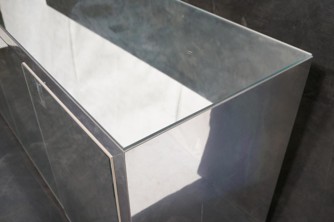 Mirrored 4 Door Modernist Credenza Sideboard. Sid - 6