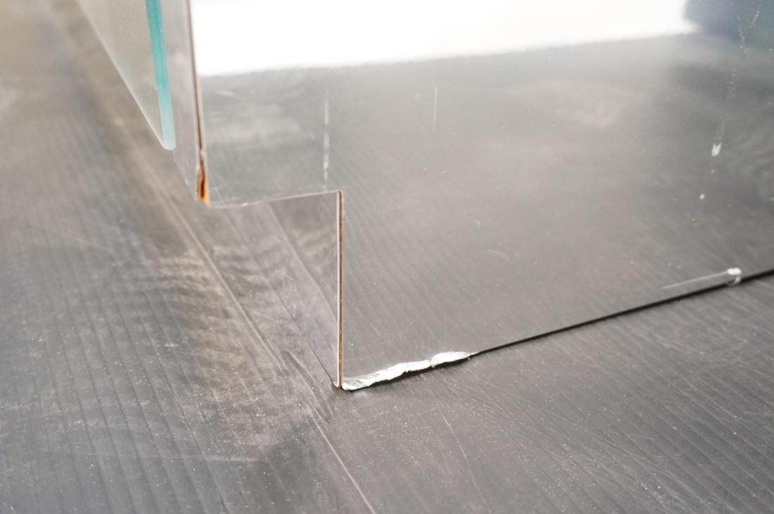 Mirrored 4 Door Modernist Credenza Sideboard. Sid - 7