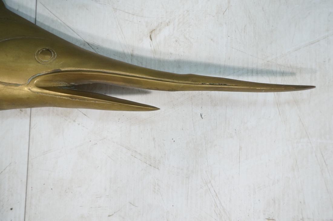 Solid Brass Swordfish Wall Sculpture - 4
