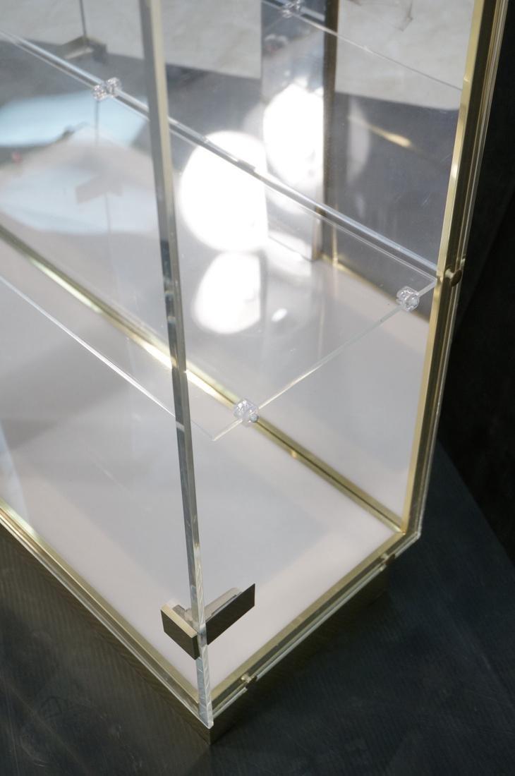 Decorator Lucite Brass 2 Door Display Cabinet. Lu - 8