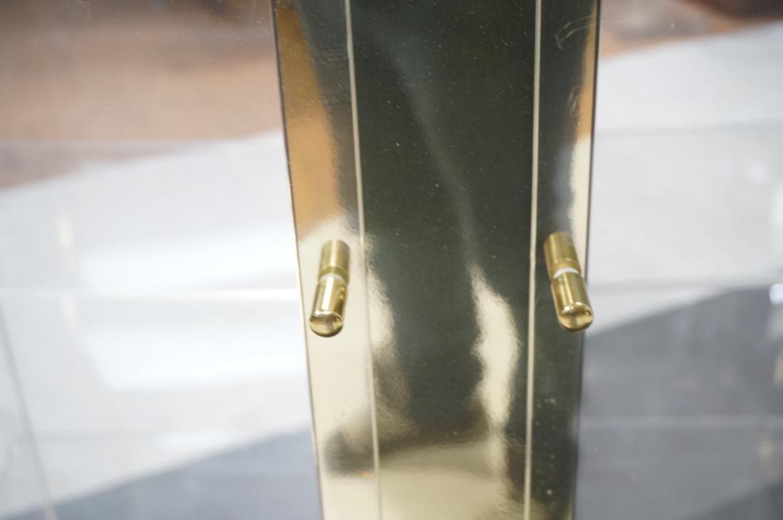Decorator Lucite Brass 2 Door Display Cabinet. Lu - 9