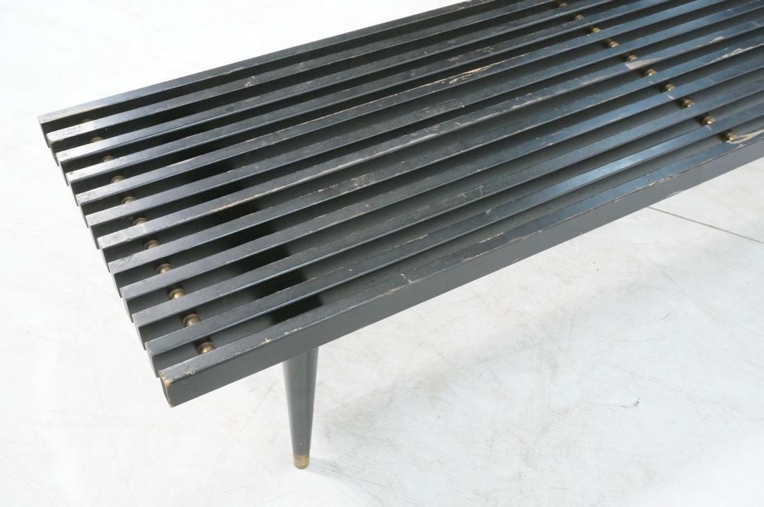 Slat Bench Coffee Table. Black Slats with metal s - 6