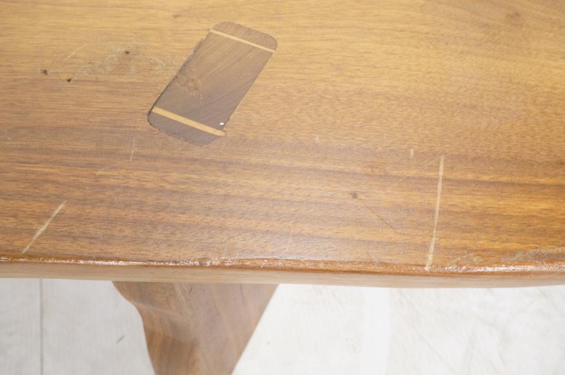 Signed PAUL J  Wood Slab Coffee Table. Mortise & - 4