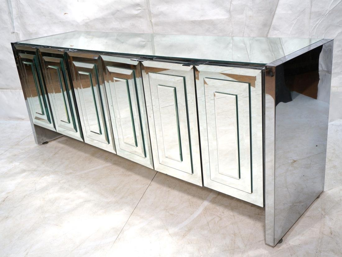 ELLO Mirrored 6 Door Credenza Sideboard. Doors wi