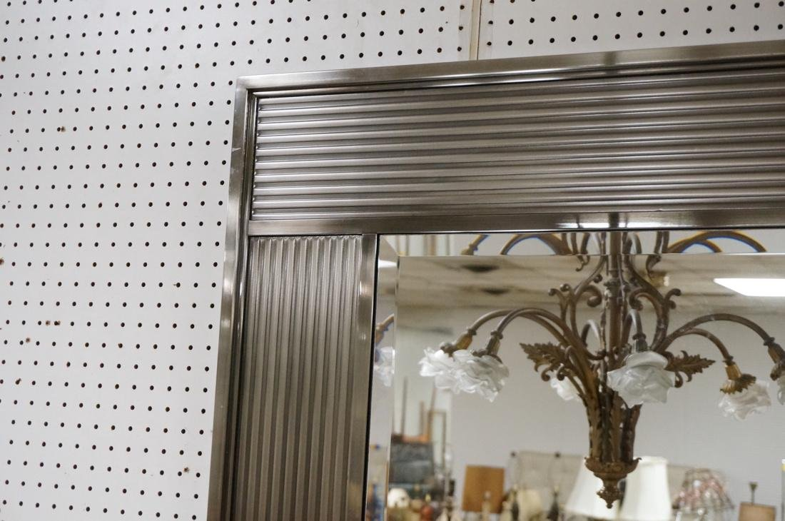 Stainless Framed Contemporary Wall Mirror. Bevele - 2
