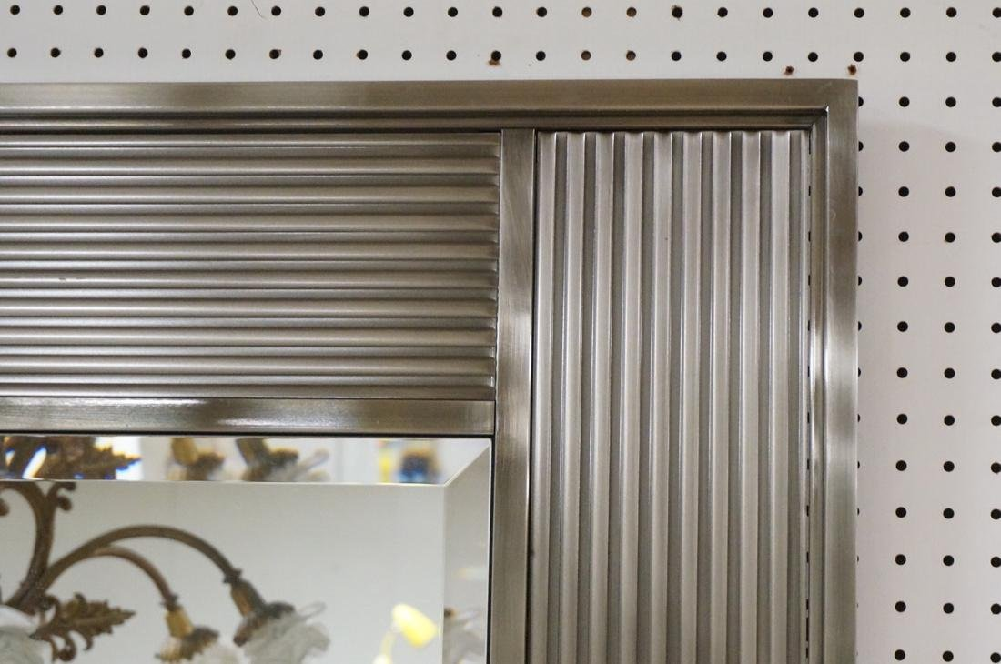 Stainless Framed Contemporary Wall Mirror. Bevele - 5