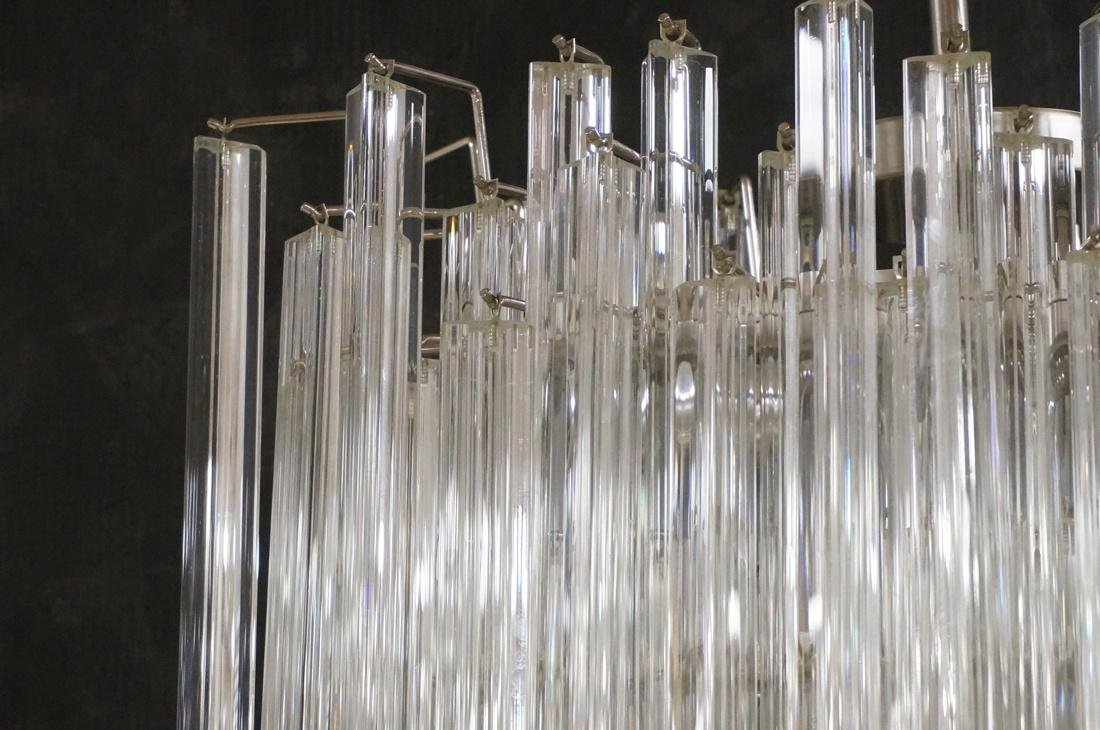 CAMER 3 sided Glass Prism Chandelier. Oval chrome - 2