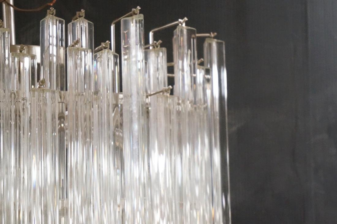 CAMER 3 sided Glass Prism Chandelier. Oval chrome - 4