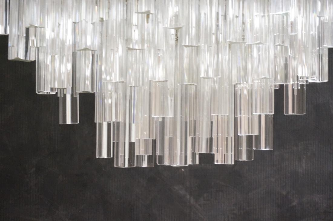 CAMER 3 sided Glass Prism Chandelier. Oval chrome - 5
