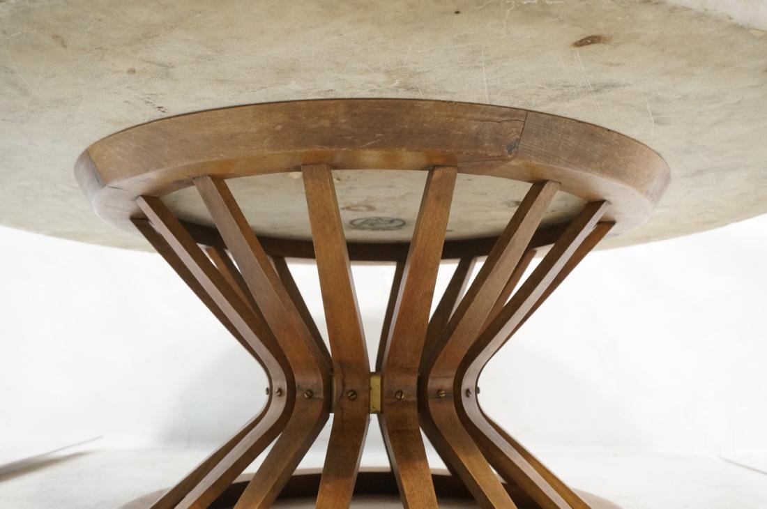 DUNBAR Style Round Stone Top Cocktail Table. Cors - 4