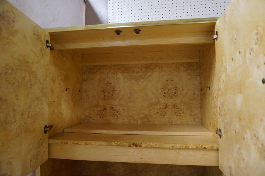 Founders 3 Section Brass Burled Maple Wall Unit. - 3