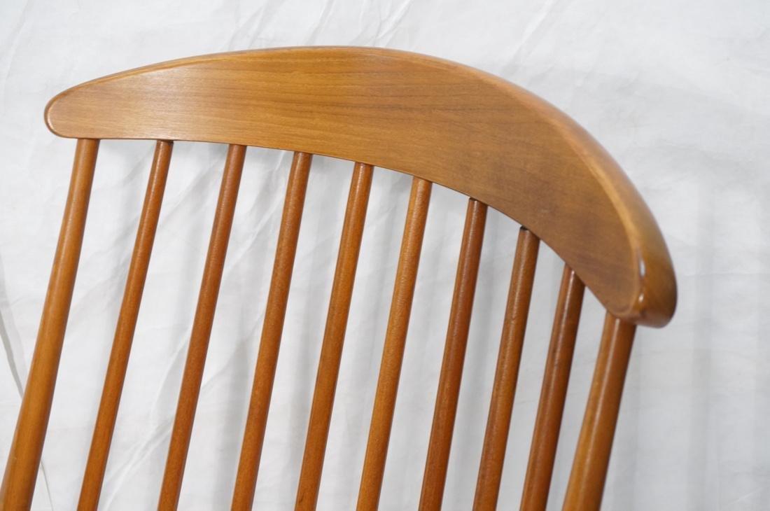 Modern Tall Back Spindle Rocker Rocking Chair - 2