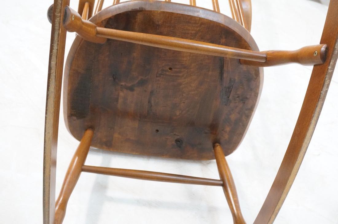 Modern Tall Back Spindle Rocker Rocking Chair - 7