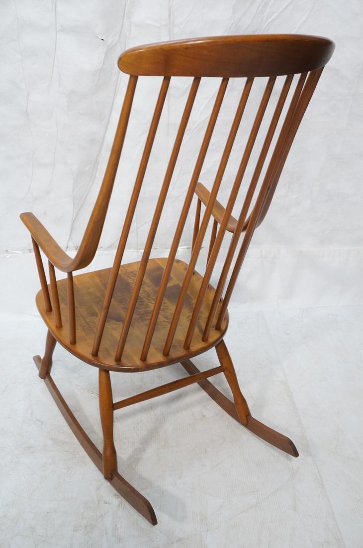 Modern Tall Back Spindle Rocker Rocking Chair - 9