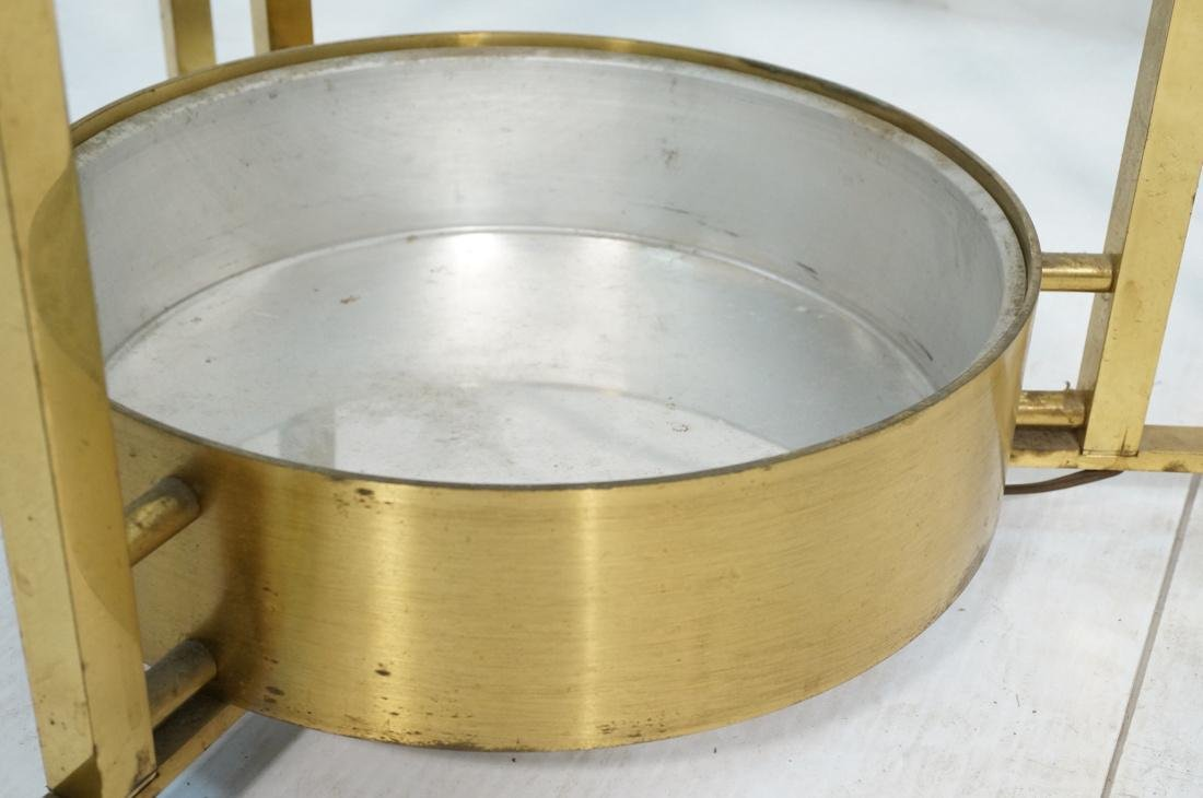 DOROTHY THORPE Style Brass Coffee Table. Round Gl - 4