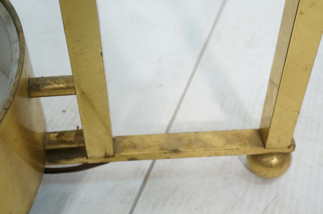 DOROTHY THORPE Style Brass Coffee Table. Round Gl - 5