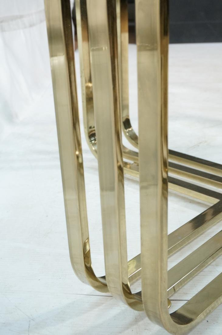 Gold Toned Metal Base Glass Top Cocktail Table. B - 6
