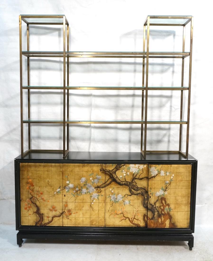 2 pc Modernist Hutch Credenza Sideboard 1) Eboniz