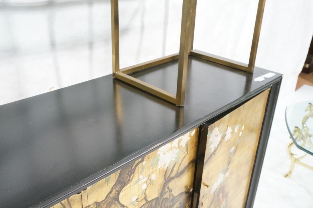 2 pc Modernist Hutch Credenza Sideboard 1) Eboniz - 5