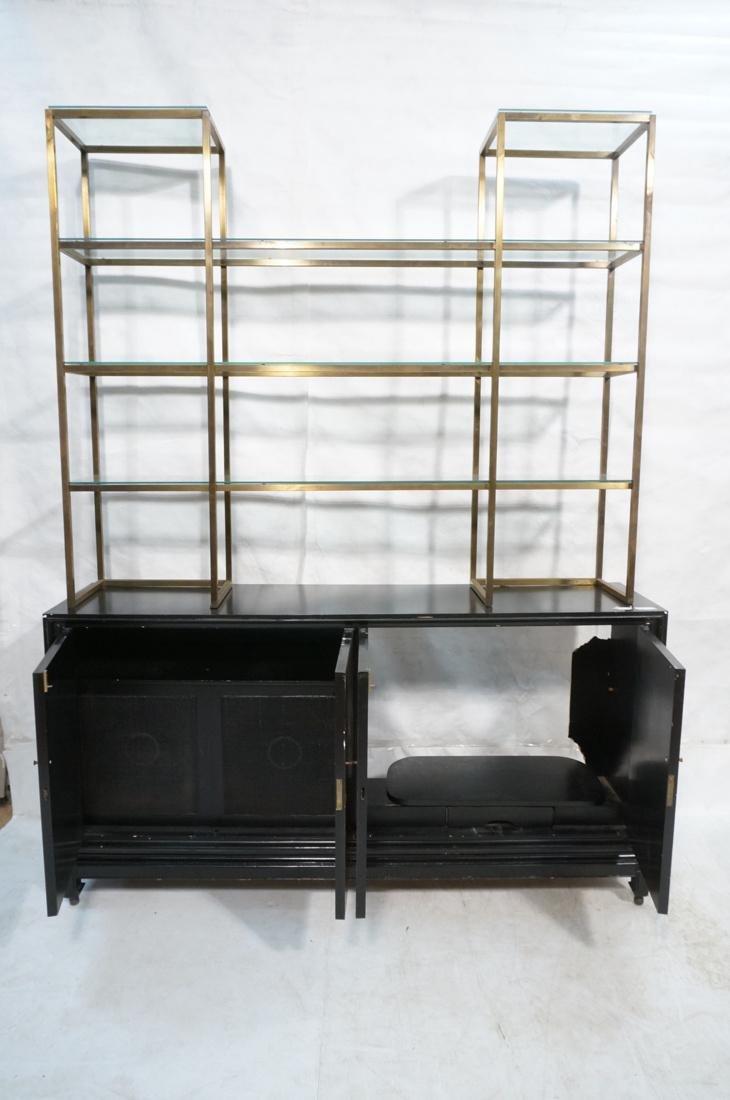 2 pc Modernist Hutch Credenza Sideboard 1) Eboniz - 7