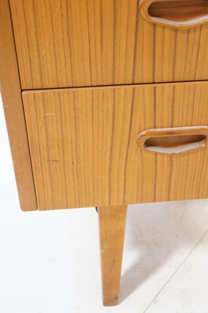 Danish Teak Roll Top Desk 3 Drawers below Roll to - 7