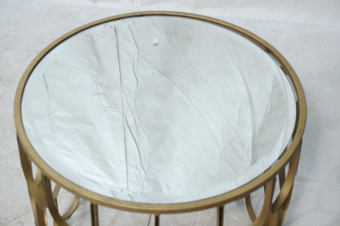 Contemporary Metal Fish Scale Round Table Inset B - 2