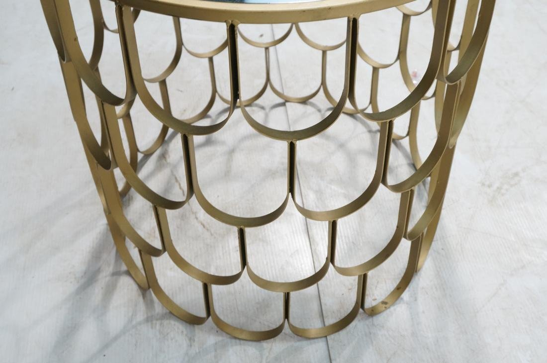 Contemporary Metal Fish Scale Round Table Inset B - 5