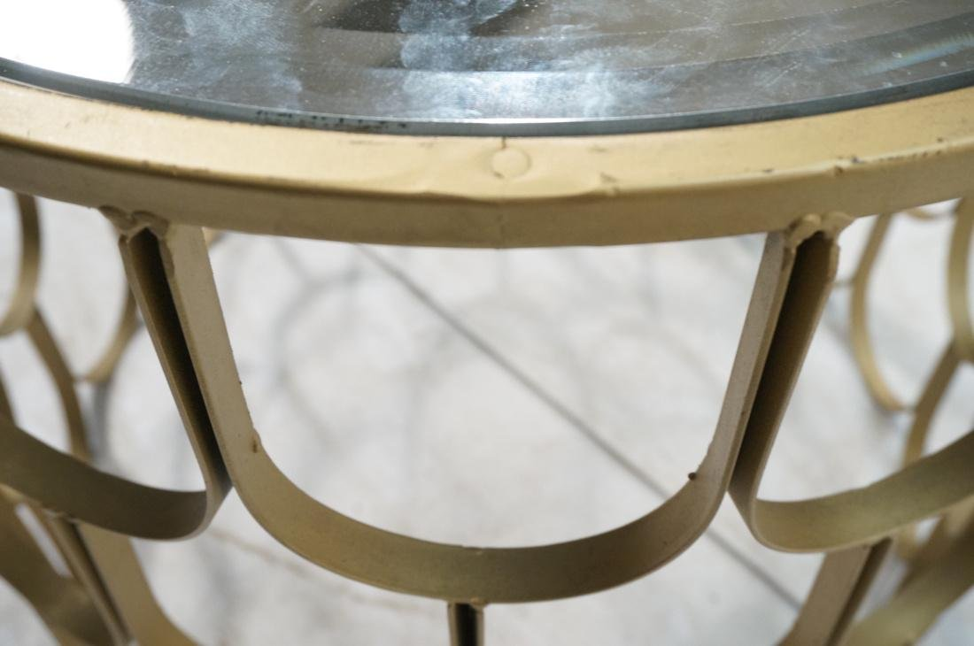 Contemporary Metal Fish Scale Round Table Inset B - 6