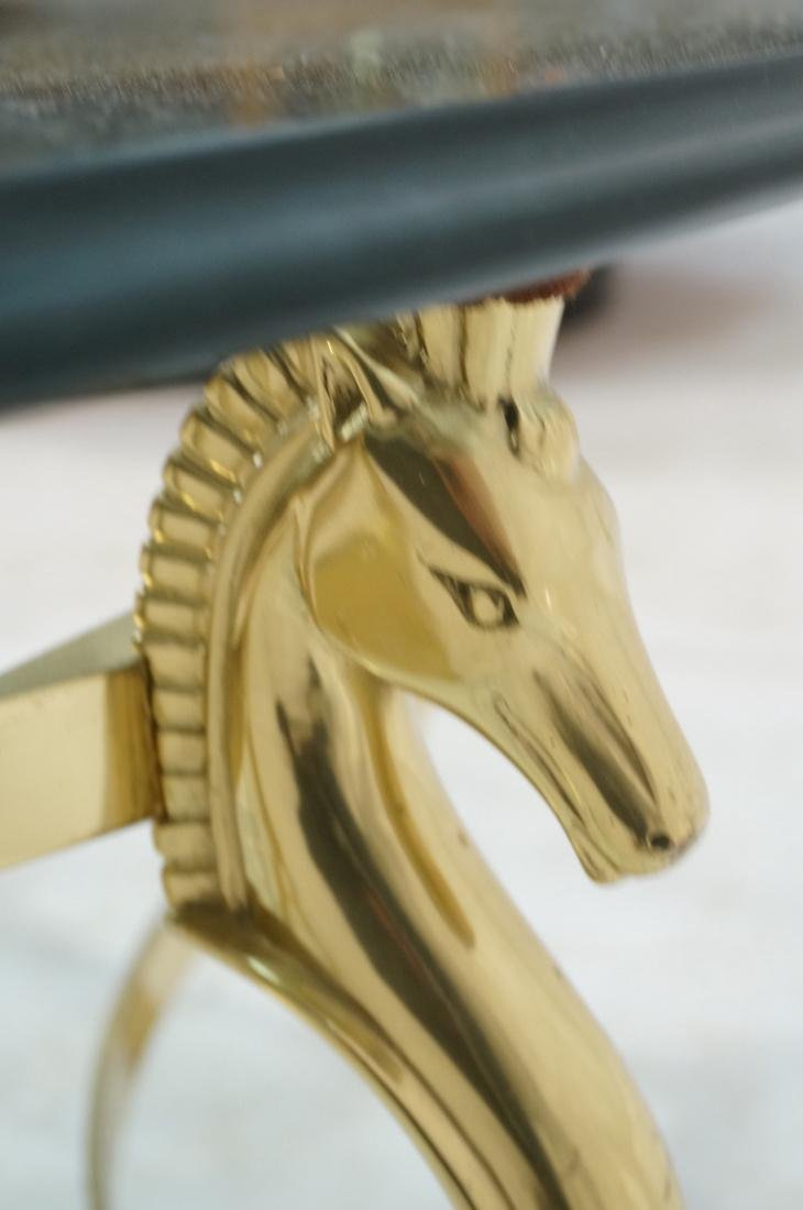 Decorator Brass Horse Head  Cocktail Table Six Si - 5