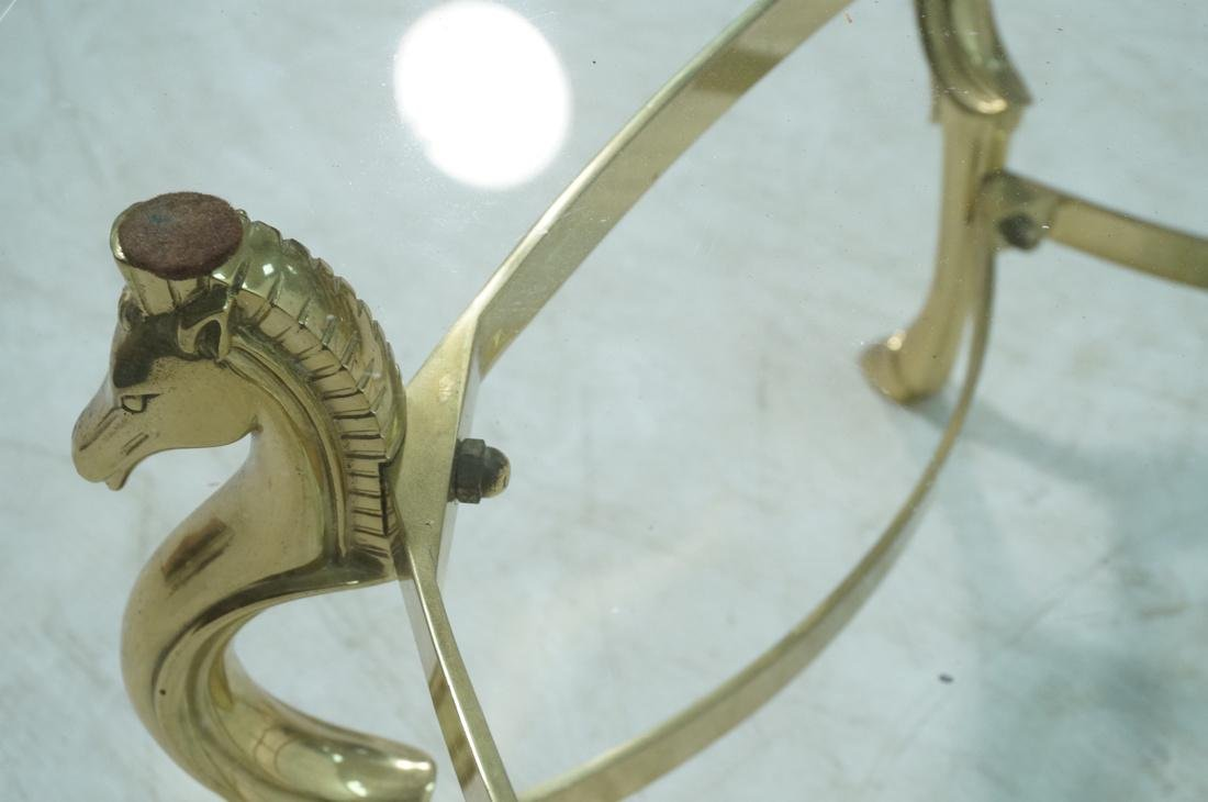 Decorator Brass Horse Head  Cocktail Table Six Si - 7