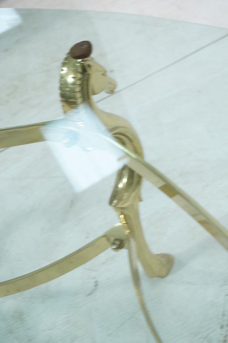 Decorator Brass Horse Head  Cocktail Table Six Si - 8
