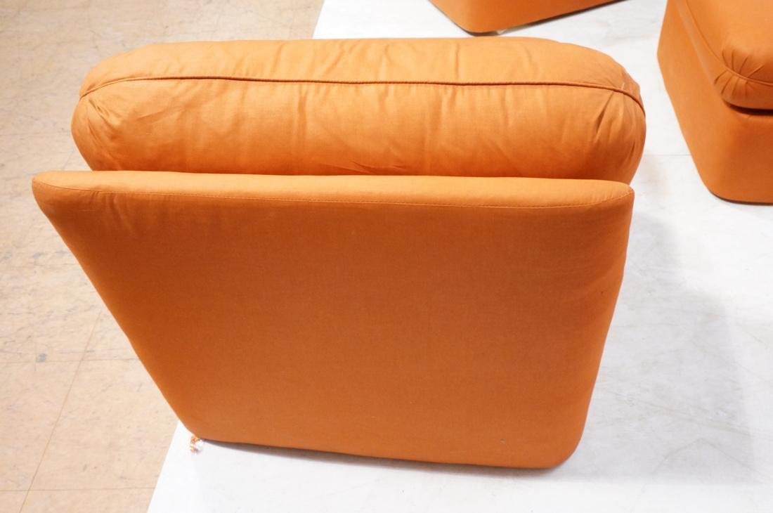 7 pc Sectional  Sofa THAYER COGGIN Orange fabric. - 10