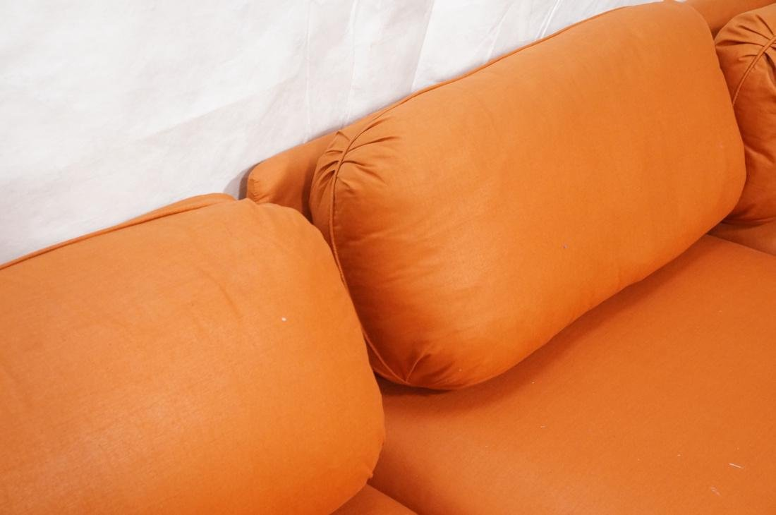 7 pc Sectional  Sofa THAYER COGGIN Orange fabric. - 7