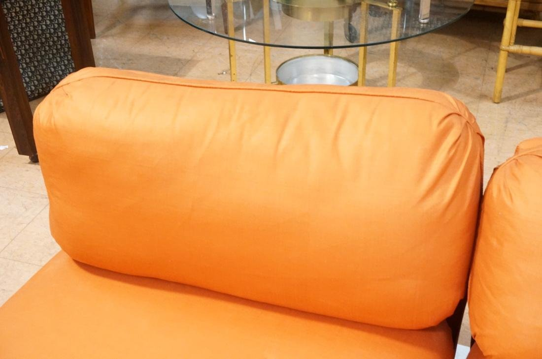7 pc Sectional  Sofa THAYER COGGIN Orange fabric. - 8