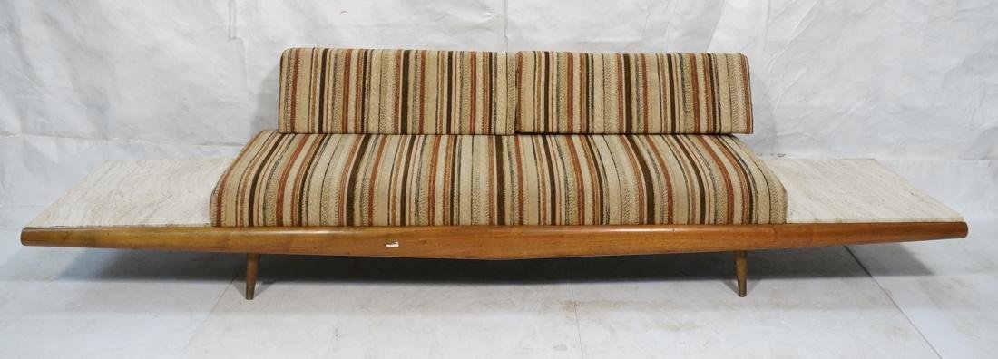 ADRIAN PEARSALL Walnut 516 Sofa Couch with travertine
