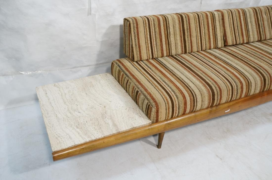 ADRIAN PEARSALL Walnut 516 Sofa Couch with travertine - 2