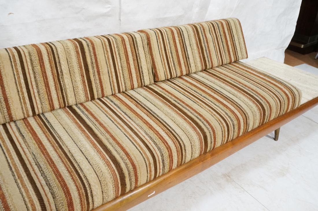 ADRIAN PEARSALL Walnut 516 Sofa Couch with travertine - 3